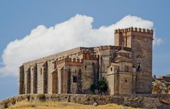 Castle - fortress of Aracena. Castle that raise Aracena's city, placed in the mountain range of the same name Royalty Free Stock Image
