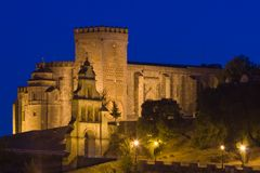 Castle - fortress of Aracena. Castle that raise Aracena's city, placed in the mountain range of the same name Royalty Free Stock Photo