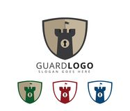 Castle fortress stronghold security vector icon logo design. Template Stock Photo