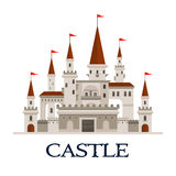 Castle fortress symbol for architecture design Royalty Free Stock Image