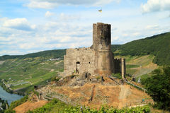Castle and fortresses along the Mosel revier Stock Photos