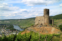 Castle and fortresses along the Mosel revier Stock Images