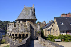 Castle of Fougeres in France Stock Image