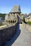 Castle of Fougeres in France Royalty Free Stock Photo