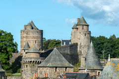 Castle of Fougeres, Ille-et-Vilaine department (France) Royalty Free Stock Image