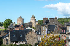 Castle of Fougeres, Ille-et-Vilaine department (France) Royalty Free Stock Images