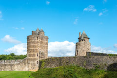 Castle of Fougeres, Ille-et-Vilaine department (France) Stock Photography
