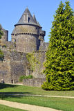Castle of Fougères in France Royalty Free Stock Photos