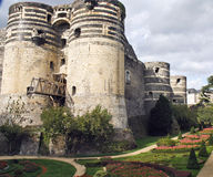 Castle in france. Anger castle from the front Royalty Free Stock Images