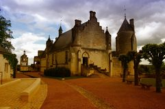 Castle in France. Beautiful medieval castle in France Royalty Free Stock Photos