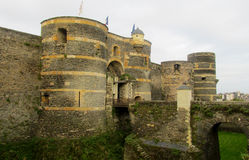 Castle in France in rainy weather Stock Photography