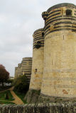 Castle in France in rainy weather Royalty Free Stock Photos