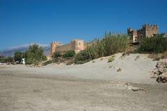 Castle at Frangokastello beach, Crete, Greece Stock Photography
