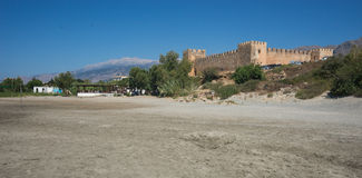 Castle at Frangokastello beach, Crete, Greece Royalty Free Stock Images