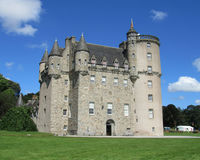 Castle Fraser, Scotland. INVERURIE, SCOTLAND, AUGUST 3 2014: Castle Fraser a baronial castle dating back to the 15th century. Situated in Aberdeenshire, it is a Stock Photography