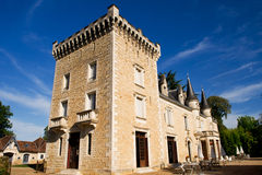 Castle in the French Charente Stock Image