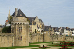 Castle in french city, in the valley of river Loire Stock Image