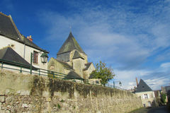 Castle in french city, in the valley of river Loire Stock Images