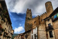 Castle of Frias Stock Photography