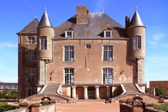 Castle. In front of Castle of Bellegarde with its staircases and its turrets Stock Images