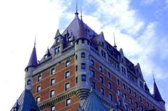 Castle of Frontenac in Quebec City stock photos