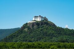 Castle Fuzer on hilltop in Hungary Royalty Free Stock Images