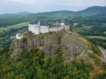 Castle of Fuzer in Hungary in Europe. Castle of Fuzer in Hungary, Europe royalty free stock photography