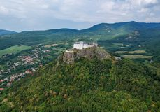 Castle of Fuzer in Hungary in Europe. Castle of Fuzer in Hungary, Europe royalty free stock photos
