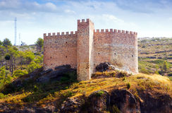 Castle in Gaibiel on sunny summer day Royalty Free Stock Photos