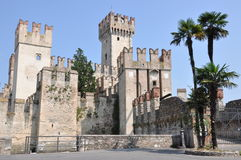 Castle on Garda Lake in Sirmione Royalty Free Stock Photography