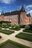 Castle garden stock photography