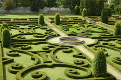 Castle garden Bucovice, Czech republic Royalty Free Stock Image