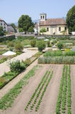 Castle Garden Of Chateau De Prangins royalty free stock photos
