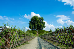 Castle garden in Kromeriz, CZ Royalty Free Stock Photos