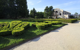 Castle Garden near the Hluboka Castle. Stock Photo