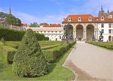 Castle garden. The original mannerist garden of Albrecht of Wallenstein. Prague, Czech republic royalty free stock photos