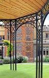 Castle garden pergola Royalty Free Stock Image