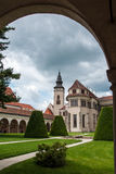 Castle Garden in Telc royalty free stock images