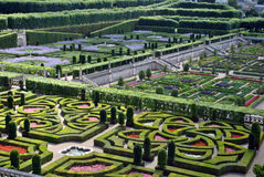 Castle garden Villandry stock images