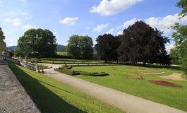 Castle Gardens of Cesky Krumlov. Stock Photos