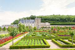 Castle Gardens in the Loire Valley in France. Stock Photo