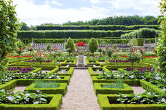 Castle Gardens in the Loire Valley in France. Royalty Free Stock Photo