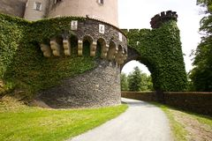 Castle gardens and paths Royalty Free Stock Photography