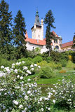 Castle and gardens Pruhonice near Prague, Czech republic Stock Images