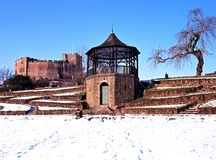 Castle and gardens,  Tamworth, England. Royalty Free Stock Photo