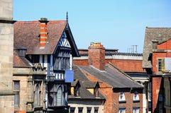Castle Gate Buildings, Shrewsbury. Royalty Free Stock Image