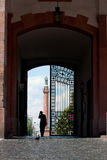 Castle Gate Darmstadt. View through the castle gate in Darmstadt Germany stock image
