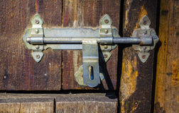 The lock on the door. Gates stables closed the latch Stock Photos
