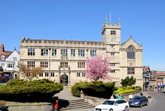 Castle Gate Library, Shrewsbury. Royalty Free Stock Photo