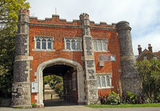 Castle gatehouse entrance Stock Images